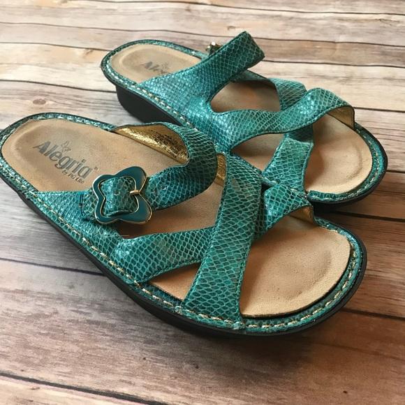 d5085de0109f4f Alegria Shoes - Algeria women s sandals butterfly aqua slide 6.5 7